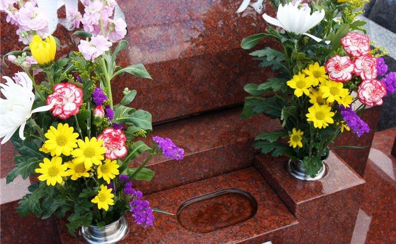 お花に供えた花