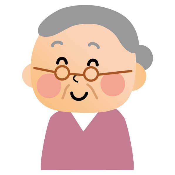 安産祈願を進めるおばあちゃん